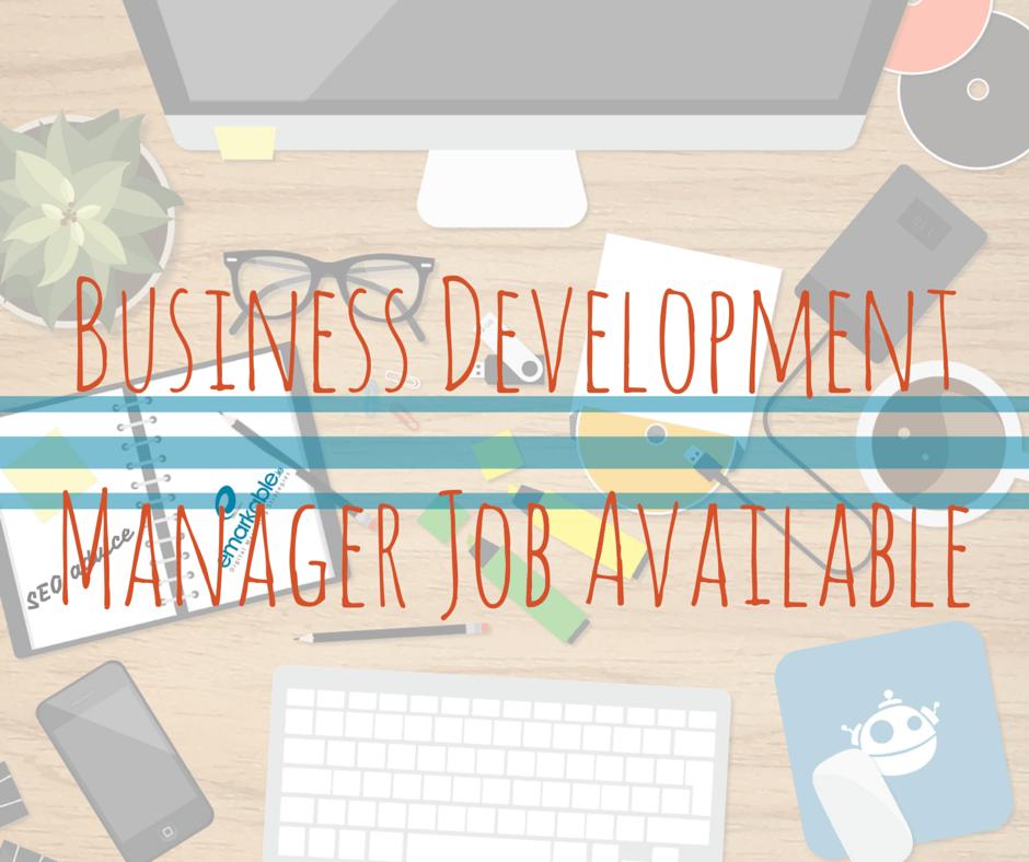 Business Development Manager Job