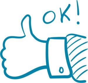 thumbs up-OK