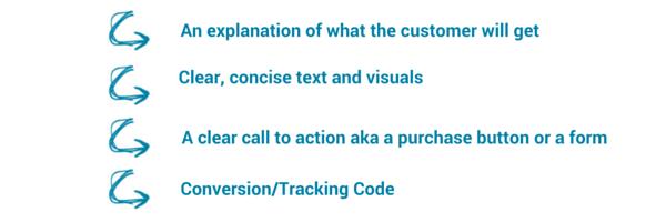 Landing Page Criteria
