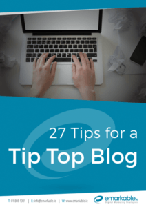 27 Tips for a TipTop Blog